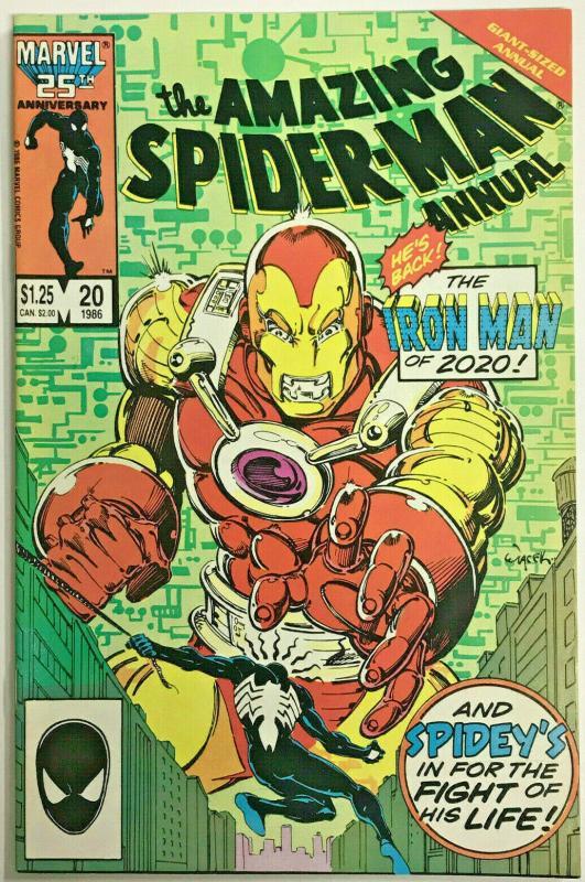 AMAZING SPIDER-MAN ANNUAL#20 VF 1986 IRON MAN 2020  MARVEL COMICS