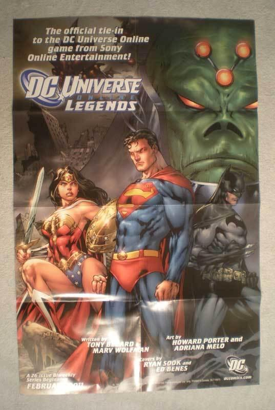 DC UNIVERSE ONLINE LEGENDS Promo Poster, 22X34, Unused, more Promos in store