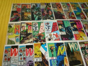 Lot of 45 Marvel Bronze-Modern Comic Books, Bagged & Boarded, No Dupes, L3
