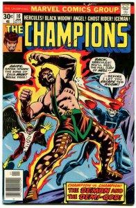 Champions #10 (VF+) 1977 Ghost Rider Dr Strange Hercules Angel Iceman ID001