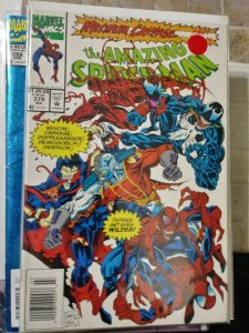 Amazing Spider-Man # 379 1993 marvel MAXIMUM CARNAGE pt 7 venom eddie brock