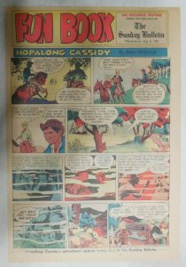 Hopalong Cassidy Sunday Page by Dan Spiegle from 7/8/1951 Size: 11 x 15 inches