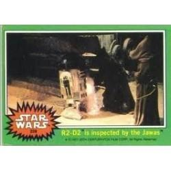 1977 Topps Star Wars R2-D2 IS INSPECTED BY THE JAWAS #228 EX/MT