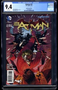 Batman (2011) #37 CGC NM 9.4 White Pages Kubert Variant Cover!