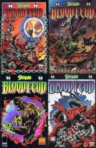SPAWN BLOOD FEUD (1995 IM) 1-4  ALAN MOORE  COMPLETE!