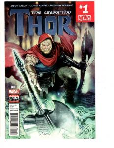 Lot Of 5 Unworthy Thor Marvel Comic Books # 1 2 3 4 5 Avengers Hulk Thor TW65
