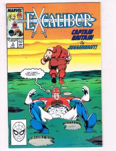 Excalibur #3 VF Marvel Comics Comic Book X-Men Captain Britain Dec 1988 DE23