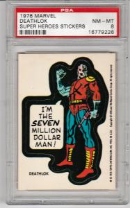 1976 Marvel Deathlok Sticker PSA 8 (NM-MT)