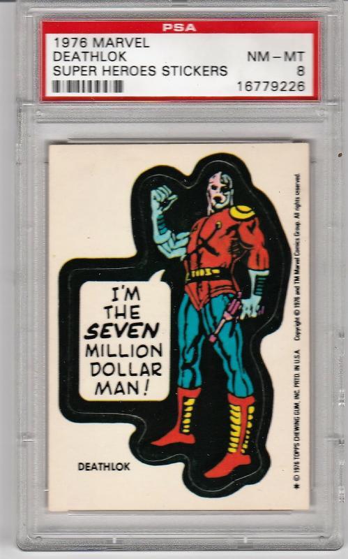 1976 Marvel Deathlok Sticker PSA 8 (NM-MT)