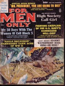 FOR MEN ONLY NOV 1963 GOOD GIRL ART ED NOON PULP STORY FR/G