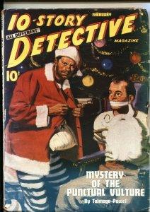 10-STORY DETECTIVE--FEB 1946--CHRISTMAS CRIME & MYSTERY PULP---SANTA CLAUS BO...