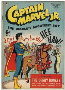 CAPTAIN MARVEL JR 75 VG British ediiton 1952 COMICS BOOK