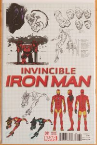 Invincible Iron Man #1 (2015) Design Variant - Near Mint 9.4