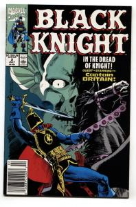 Black Knight #2 1990 1st appearance of Sean Dolan, The Black Knight's squire.