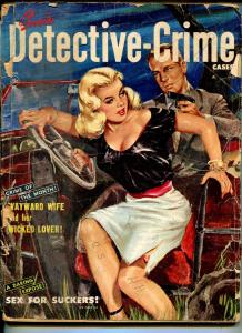 Detective-Crime Cases 11/1950-Skye-GGA horror cover-violent-lurid crime-pulp-P