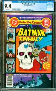 Detective Comics #481 CGC Graded 9.4 Wraparound cover.