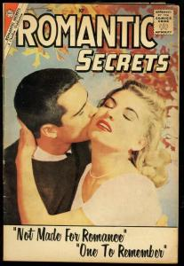 ROMANTIC SECRETS #27-RARE PHOTO COVER-CHARLTON ROMANCE VG