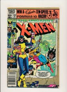 MARVEL 1982 THE UNCANNY X-MEN #153 Kitty Pryde appearance  G/VG (PJ55)