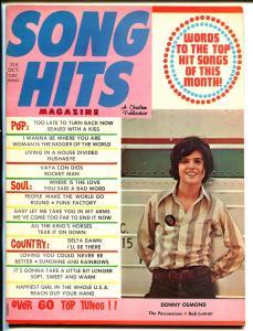 Song Hits10/1972-Charlton-Donny Osmond-Persuasions-song lyrics-VF