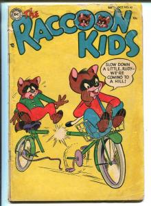 THE RACCOON KIDS #52-1954-DC COMICS-1ST ISSUE-BICYCLE-SHELDON MAYER-fr/good