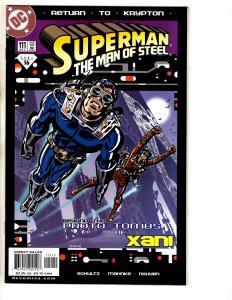 7 Superman Man Of Steel DC Comic Books # 111 112 113 114 115 116 117 Batman PP10