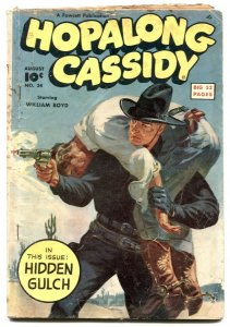 Hopalong Cassidy #34 1949- Norman Saunders cover VG-
