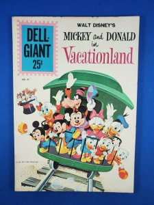 DELL GIANT MICKEY AND DONALD IN VACATIONLAND 47 VG+ 1961