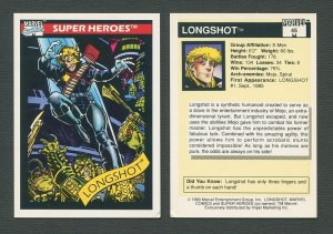 1990 Marvel Comics Card  #45 ( Longshot)  NM