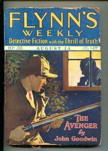 FLYNN'S WEEKLY DETECTIVE FICTION-AUG 14 1926-PULP-CLASSIC-CRIME-SHOTGUN-fr