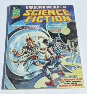 Unknown Worlds of Science Fiction #4 VG+ 1975 Magazine Lost City of Mars Weird