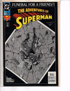 Dc Comics Adventures of Superman #498, 499 & 500 Funeral for a Friend