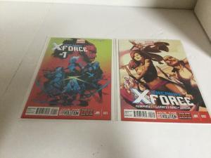 Uncanny X-Force 1 2 Lot Set Run Nm Near Mint Marvel Now