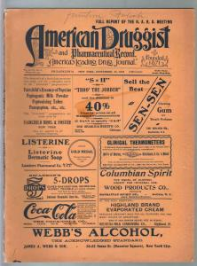 American Druggist 9/25/1905-drug store info-Heroin-Coca-Cola cover ad-VG-