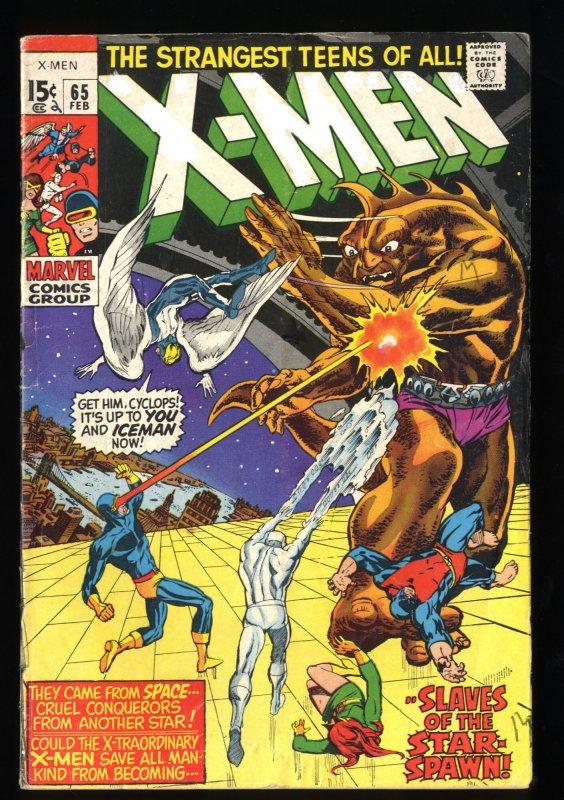 X-Men #65 GD+ 2.5 1st Z'Nox! Marvel Comics