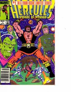Lot Of 2 Marvel Comic Books Hercules Prince of Power #1 and #4 ON3