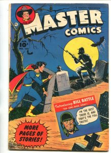 MASTER #133-1953-FAWCETT-CAPT MARVEL JR-BILL BATTLE-HORROR COVER-TOM MIX-vg/fn