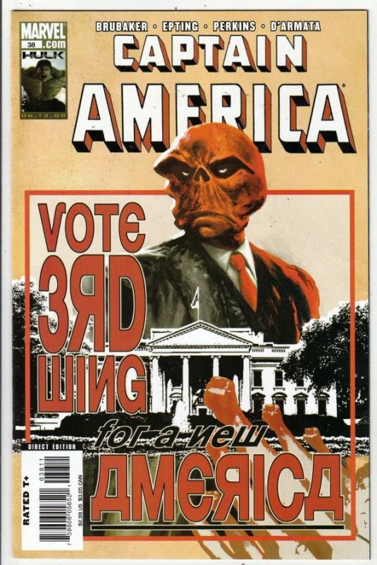 Captain America #38 (Jul-08) NM+ Super-High-Grade Captain America aka Bucky B...