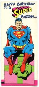 SUPERMAN / DC Greeting Cards x 4 different, 1978, Wonder Woman, w/envelopes, lot