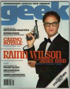 Geek Magazine #1 (2006) James Bond Battlestar Galactica NM