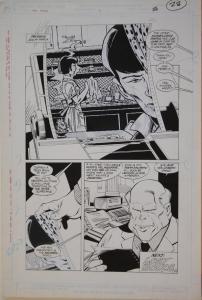 JOE STATON / MARK FARMER original art, NEW GUARDIANS #3 pg 28, 19.5x13, 1988