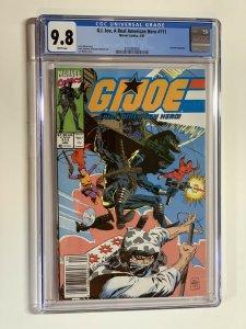 G.i. Joe A Real American Hero 111 Cgc 9.8 Marvel Wp Newsstand Edition Rare