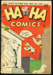 HA HA COMICS #77 1951-FUNNY ANIMALS-WACKY ART & STORIES VG