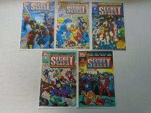 Jack Kirby's Secret City Saga set #0-4 + Trading Cards 8.0 VF (1993 Topps)