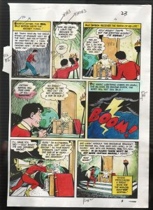 Hand Painted Color Guide-Capt Marvel-Shazam-C35-1975-DC-page 23-Batson-Sivana-G