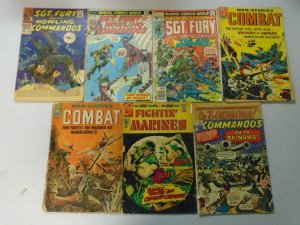 Baker's dozen Silver + Bronze age War comics readers lot of 13