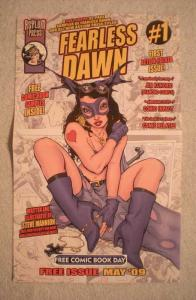 FEARLESS DAWN #1 Promo Poster, 8.5x14, 2009, Unused, Steve Mannion