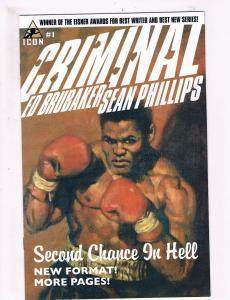 Criminal # 1 NM 1st Print Marvel Icon Comic Book Ed Brubaker Sean Phillips S58