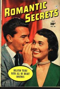 ROMANTIC SECRETS #20 PHOTO COVER EGYPTIAN COLLECTION FN/VF