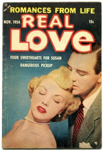 Real Love #64 1954- Ace Golden Age Romance- Dangerous Pickup VG