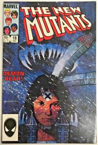 NEW MUTANTS#18 VF 1984 'DEMON BEAR'  MARVEL COMICS